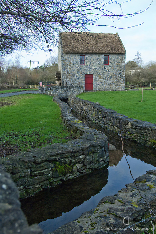 Mill house at Bunratty Castle, County Clare, Ireland.