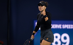 March 24, 2019 - Miami, FLORIDA, USA - Bianca Andreescu of Canada in action during her third-round match at the 2019 Miami Open WTA Premier Mandatory tennis tournament (Credit Image: © AFP7 via ZUMA Wire)