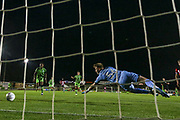 Forest Green Rovers Dayle Grubb(8) shoots at goal scores a goal 3-2  during the EFL Trophy match between Forest Green Rovers and U21 Southampton at the New Lawn, Forest Green, United Kingdom on 3 September 2019.
