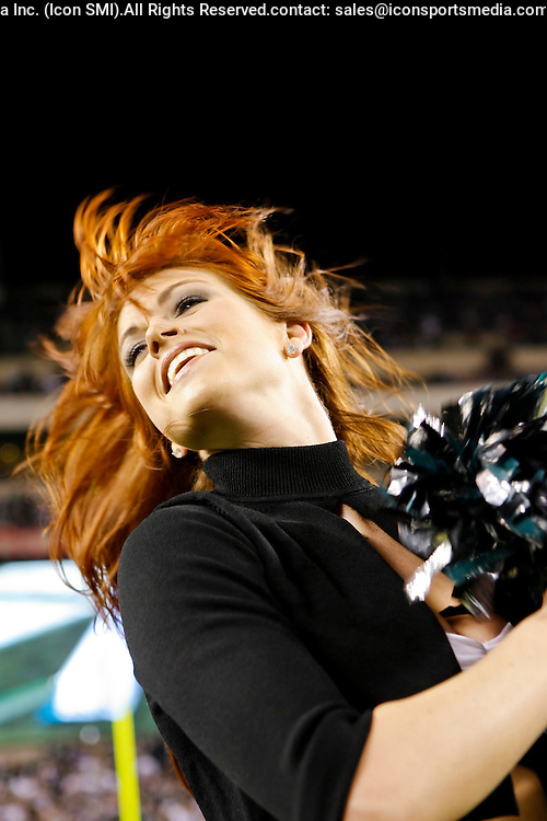 15 Dec 2008: Philadelphia Eagles cheerleaders dance before the game against the Cleveland Browns on December 15th, 2008. The Eagles won 30-10 at Lincoln Financial Field in Philadelphia, Pennsylvania