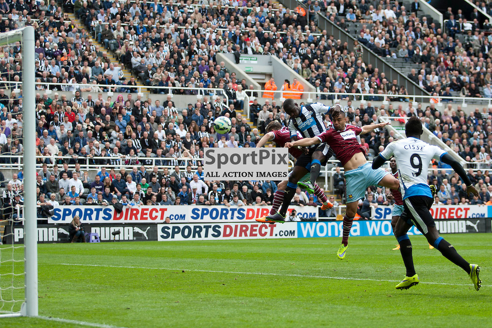 Moussa Sissoko scores a goal in the Newcastle v West Ham, Barclays Premiership match at St James&rsquo; Park, Newcastle 24 May 2014<br />