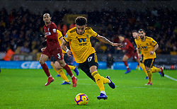 WOLVERHAMPTON, ENGLAND - Friday, December 21, 2018: Wolverhampton Wanderers' Morgan Gibbs-White during the FA Premier League match between Wolverhampton Wanderers FC and Liverpool FC at Molineux Stadium. (Pic by David Rawcliffe/Propaganda)