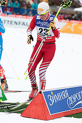 23.02.2013, Langlaufstadion, Lago di Tesero, ITA, FIS Weltmeisterschaften Ski Nordisch, Langlauf Damen, Skiathlon, im Bild Katerina Smutna (AUT) // Katerina Smutna of Austria during the Ladies Cross Country Skiathlon of the FIS Nordic Ski World Championships 2013 at the Cross Country Stadium, Lago di Tesero, Italy on 2013/02/23. EXPA Pictures ©  2013, PhotoCredit: EXPA/ Federico Modica