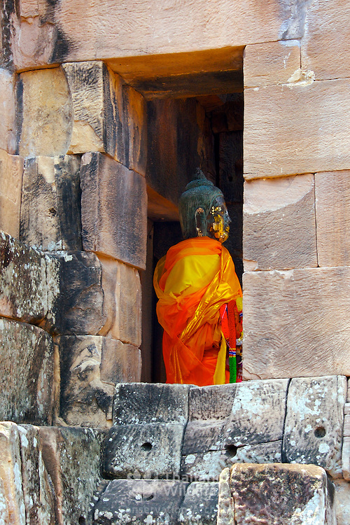 Prasat Hin Nang Ram Khmer temple at Khorat (Nakorn Ratchasima) in Thailand.  View is March 2007.