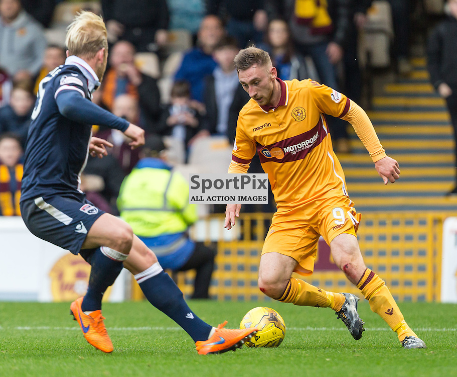 Louis Moult cuts back and scores during the match between Motherwell and Ross County (c) ROSS EAGLESHAM | Sportpix.co.uk