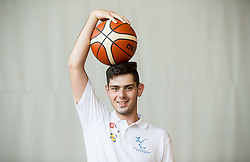 Lazar Tanisijevic of Slovenian Deaf Basketball team at media day, on June 13, 2016 in GIB Centre, Ljubljana, Slovenia. Photo by Vid Ponikvar / Sportida