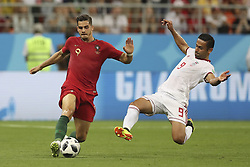 June 25, 2018 - Na - Saransk, 06/25/2018 - The national team of Portugal faced Iran today in the Group B match in the final round of the 2018 World Cup in Mordovia Arena. André Silva and Omid Ebrahimi  (Credit Image: © Atlantico Press via ZUMA Wire)