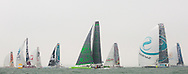Image licensed to Lloyd Images - Free for editorial use<br /> The 2015 Artemis Challenge as part of Aberdeen Asset Management Cowes Week 2015. Cowes. Isle of Wight. Pictures of the fleet of ten IMOCA 60s, two Volvo 65s and four multihulls starting the 2015 Artemis Challenge Credit: Lloyd Images