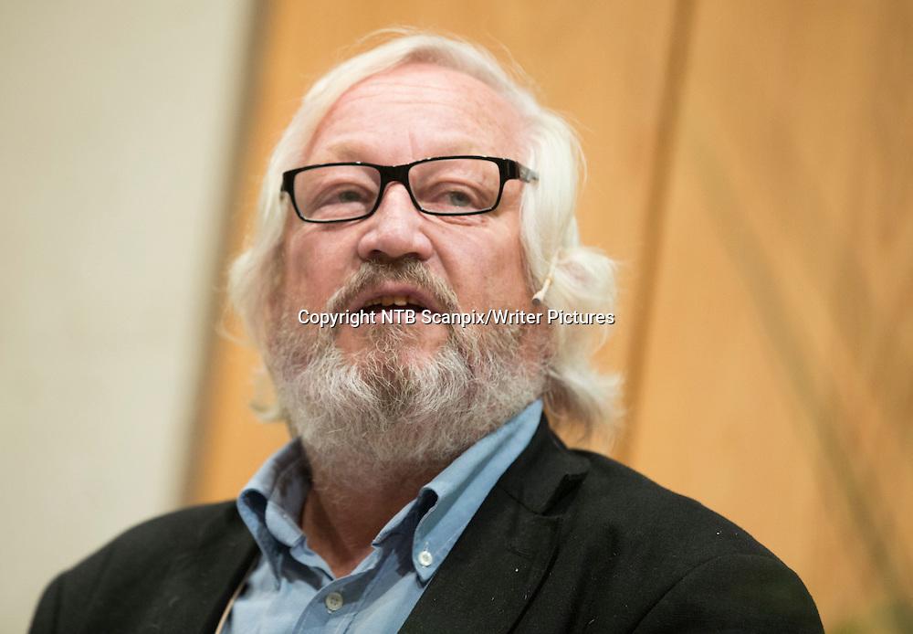Oslo  20130822.<br /> Forfatter av boka &quot; Mannen og mytene  Thor Heyerdahl, db.3 &quot;, Ragnar Kvam jr.,   under presentasjonen av &Acirc;rets h&macr;stliste til Gyldendal forlag.   Foto: Berit Roald / NTB scanpix<br /> <br /> NTB Scanpix/Writer Pictures<br /> <br /> WORLD RIGHTS, DIRECT SALES ONLY, NO AGENCY