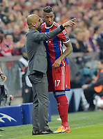 Fotball<br /> Tyskland<br /> 21.04.2015<br /> Foto: Witters/Digitalsport<br /> NORWAY ONLY<br /> <br /> v.l. Trainer Josep ''Pep'' Guardiola (Bayern), Jerome Boateng (Bayern)<br /> <br /> Fussball, Champions League, Viertelfinale Rueckspiel, FC Bayern München - FC Porto