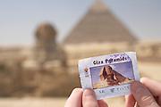 Tourist at Great Pyramids, Giza, Egypt