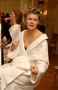 Anastasia Tolstoy, Getting ready before the  Thirteenth Annual Crillon Haute Couture Ball. Paris,  29 November 2003. © Copyright Photograph by Dafydd Jones 66 Stockwell Park Rd. London SW9 0DA Tel 020 7733 0108 www.dafjones.com