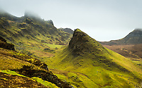 SCOTLAND - CIRCA APRIL 2016: The Quiraing a popular tourist attraction near Staffin in Skye an Island in Scotland