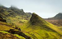 SCOTLAND - CIRCA APRIL 2016: The Quiraing a popular tourist attraction near Staffin in Skye an Island in Scotland