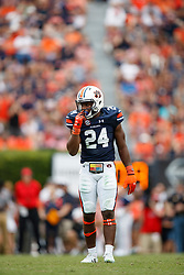 Auburn Tigers defensive back Daniel Thomas (24) during an NCAA football game against the Mississippi Rebels, Saturday, October 7, 2017, in Auburn, AL. Auburn won 44-23. (Paul Abell via Abell Images for Chick-fil-A Peach Bowl)
