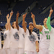 The winning Notre Dame team after the Connecticut V Notre Dame Final match won by Notre Dame 61-59 during the Big East Conference, 2013 Women's Basketball Championships at the XL Center, Hartford, Connecticut, USA. 11th March. Photo Tim Clayton