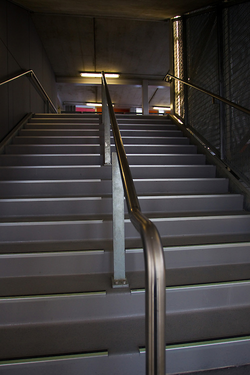 stairway on the south stand at Eden Park Stadium, Auckland, New Zealand, Sunday, October 10, 2010.   Credit:SNPA / David Rowland