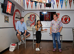 LOS ANGELES, USA - Tuesday, July 26, 2016: Melissa Reddy of Goal.com during an Anfield Wrap live podcast on day six of Liverpool FC's USA Pre-season Tour. (Pic by David Rawcliffe/Propaganda)