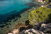 Between Altea and Calpe the Mascarat area with its turquoise water coastline, Altea, Costa Blanca, Alicante province, Spain