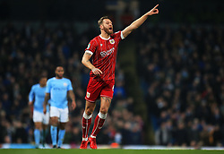 Nathan Baker of Bristol City shouts - Mandatory by-line: Matt McNulty/JMP - 09/01/2018 - FOOTBALL - Etihad Stadium - Manchester, England - Manchester City v Bristol City - Carabao Cup Semi-Final First Leg