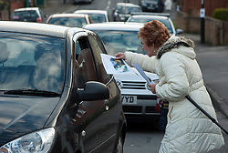 © Licensed to London News Pictures.  15/02/2015. Bristol, UK.  Local people distribute posters in the search for missing teenager Rebecca Watts aged 16 who left home in the St George area of Bristol, last Thursday and has not been seen since. Police have carried out extensive searches in the area. Rebecca did not take any spare clothes with her and both her family and the police are very worried for her welfare. Photo credit : Simon Chapman/LNP