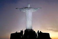Jul 31, 2016; Rio de Janeiro, Brazil; A view of the Christ the Redeemer statue prior to the Rio 2106 Olympic games. Mandatory Credit: Peter Casey-USA TODAY Sports