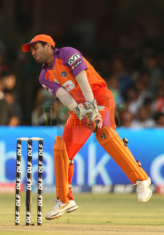 Parthiv Patel during match 50 of the the Indian Premier League ( IPL ) Season 4 between the Royal Challengers Bangalore and the Kochi Tuskers Kerala held at the Chinnaswamy Stadium, Bangalore, Karnataka, India on the 8th May 2011..Photo by Jacques Rossouw/BCCI/SPORTZPICS