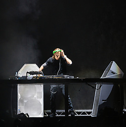 David Guetta supporting Rihanna in concert at the Millennium Stadium , Cardiff, United Kingdom<br /> Picture Date: 10 June, 2013