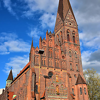 Profile of St. Alban&rsquo;s Church in Odense, Denmark <br />