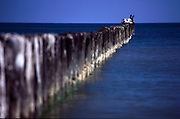 Falochron w Jatarni na Polwyspie Helskim, 23-06-2005, fot: Piotr Gesicki..Breakwater in Jastarnia town on Hel pennisula, on Baltic sea, Poland, 23-06-2005, photo: Piotr Gesicki. Hel pennisula on Baltic sea in Poland photo by Piotr Gesicki