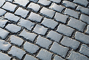 Cobblestones on SE Belmont Street, Portland, Oregon.
