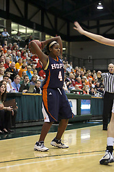 19 March 2010: Philana Greene. The Flying Dutch of Hope College defeat the Yellowjackets of the University of Rochester in the semi-final round of the Division 3 Women's Basketball Championship by a score of 86-75 at the Shirk Center at Illinois Wesleyan in Bloomington Illinois.