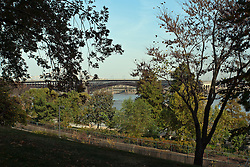 18 October 2010: The Historic Eades Bridge spanning the Mississippi River. image shot one day before it closed for extensive repairs in October 2010. St. Louis Missouri