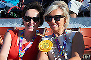 (L) Dorota Idzi and (R) Katarzyna Frank Niemczycka pose to souvenir picture during opening ceremony of the Special Olympics World Games Los Angeles 2015 at the Los Angeles Coliseum Stadium on July 25, 2015 in Los Angeles, USA.<br /> USA, Los Angeles, July 25, 2015<br /> <br /> Picture also available in RAW (NEF) or TIFF format on special request.<br /> <br /> For editorial use only. Any commercial or promotional use requires permission.<br /> <br /> Adam Nurkiewicz declares that he has no rights to the image of people at the photographs of his authorship.<br /> <br /> Mandatory credit:<br /> Photo by &copy; Adam Nurkiewicz / Mediasport