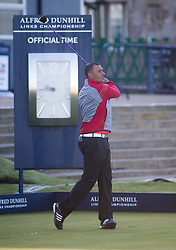 Ruud Gullit. Alfred Dunhill Links Championship this morning at St Andrews.