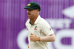 August 29, 2017 - Mirpur, Dhaka, Bangladesh - Australia's David Warner fields against Bangladesh during day three of the First Test match between Bangladesh and Australia at Shere Bangla National Stadium on August 29, 2017 in Mirpur, Bangladesh. (Credit Image: © Ahmed Salahuddin/NurPhoto via ZUMA Press)