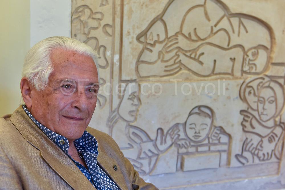 Ivan Focaccia, president of the cultural association  La Scaletta, in the seat in Sasso Barisano