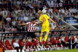 12-09-2006 VOETBAL: CHAMPIONS LEAGUE: PSV - LIVERPOOL: EINDHOVEN<br /> PSV en Liverpool eindigt zoals ze begonnen zijn 0-0 / Carlos Salcido<br /> ©2006-WWW.FOTOHOOGENDOORN.NL