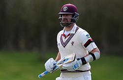 Somerset's Tim Groenewald - Photo mandatory by-line: Harry Trump/JMP - Mobile: 07966 386802 - 24/03/15 - SPORT - CRICKET - Pre Season Fixture - Day 2 - Somerset v Glamorgan - Taunton Vale Cricket Club, Somerset, England.
