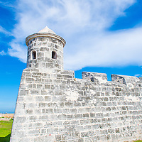 HAVANA , CUBA - JULY 18 : The Morro castle in Havana, Cuba on July 18 2016. The castle was built by the Spaniards in the years 1589 to 1630