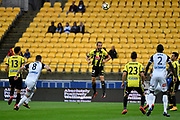 Wellington Phoenix&rsquo; Andrew Durante in action during the A League - Wellington Phoenix v Melbourne Victory FC at Westpac Stadium, Wellington, New Zealand on Wednesday 10 January 2018. <br /> Photo by Masanori Udagawa. <br /> www.photowellington.photoshelter.com
