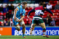 Ted Hill of Worcester Warriors takes on Jonah Holmes of Leicester Tigers - Mandatory by-line: Robbie Stephenson/JMP - 03/11/2018 - RUGBY - Welford Road Stadium - Leicester, England - Leicester Tigers v Worcester Warriors - Gallagher Premiership Rugby