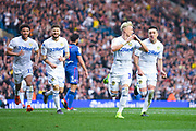 Ezgjan Alioski of Leeds United (10) scores a goal and celebrates to make the score 2-1 during the EFL Sky Bet Championship match between Leeds United and Bolton Wanderers at Elland Road, Leeds, England on 23 February 2019.