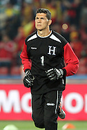 21 JUN 2010: Ricardo Canales (HON). The Spain National Team defeated the Honduras National Team 2-0 at Ellis Park Stadium in Johannesburg, South Africa in a 2010 FIFA World Cup Group H match.