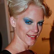 NLD/Amsterdam/20110713 - AIFW 2011 Summer, show Spijker & Spijker, Stacey Rookhuizen en vriend Bart Brom