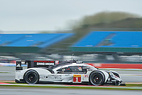Timo Bernhard (DEU) / Mark Webber (AUS) / Brendon Hartley (NZL) #1 Porsche Team Porsche 919 Hybrid, during Free Practice 1  as part of the WEC 6 Hours of Silverstone 2016 at Silverstone, Towcester, Northamptonshire, United Kingdom. April 15 2016. World Copyright Peter Taylor. Copy of publication required for printed pictures.