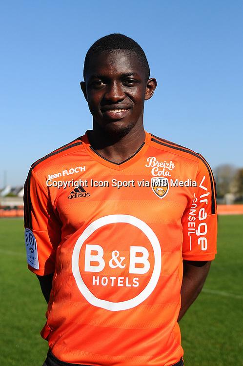 Moryke Fofana - 02.11.2015 - Portrait Officiel Lorient<br /> Photo : Philippe Le Brech / Icon Sport