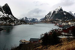 NORWAY LOFOTEN 29MAR07 - View of the town of Reine on the Lofoten islands...jre/Photo by Jiri Rezac..© Jiri Rezac 2007..Contact: +44 (0) 7050 110 417.Mobile:  +44 (0) 7801 337 683.Office:  +44 (0) 20 8968 9635..Email:   jiri@jirirezac.com.Web:    www.jirirezac.com..© All images Jiri Rezac 2007 - All rights reserved.