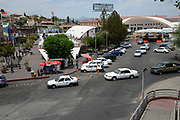 Travelers cross between Arizona and Sonora, Mexico, at the U.S. Customs and Border Protection, Dennis DeConcini Crossing, Nogales, Mexico, USA.
