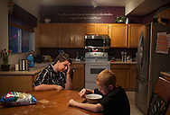 "Max Janssen eats breakfast with his nephew, Brandon Lillie before school.  ""We were losing him,"" Tammy says.  It was wrenching to watch their child's despair, his struggle, and it still is difficult to know that making this decision won't end all of it. They know not everyone will be accepting of Max, and they wish they could protect him from every unkind word but know that they can't. ""Kids don't decide this. They don't decide, Hey, I'm going to be transgender. This is hard,"" Tammy says. ""With the statistics of suicide rates, and the bullying that goes on against these kids, who would choose that? It is definitely not a choice."""